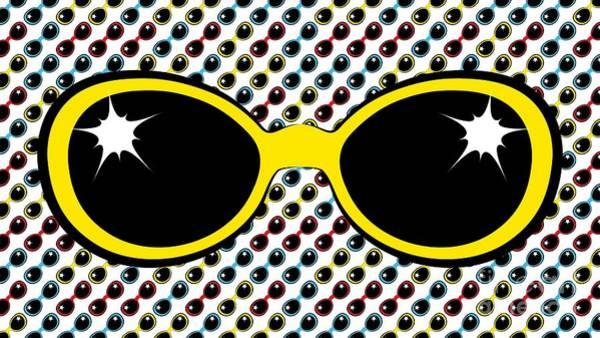 Digital Art - Cool Retro Yellow Sunglasses by MM Anderson