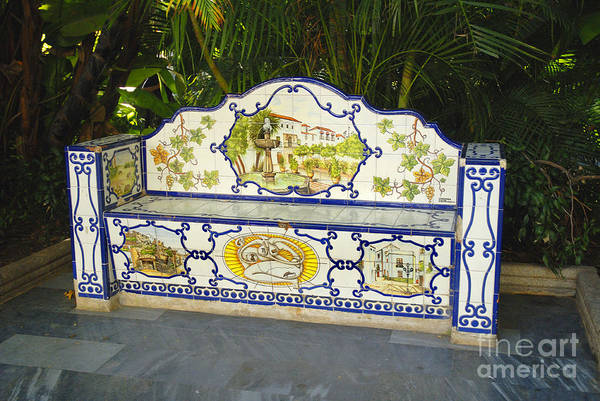 Photograph - Cool Seat On A Hot Day In Spain by Brenda Kean