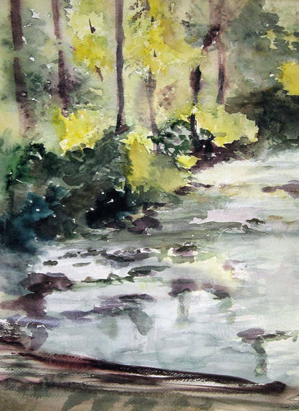 Brook Mixed Media - Cool Stream by Nancy Brennand