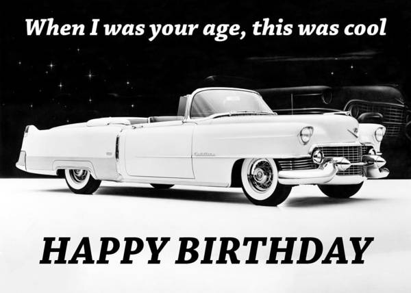Wall Art - Photograph - Cool Vintage Car Birthday Greeting Card by Communique Cards