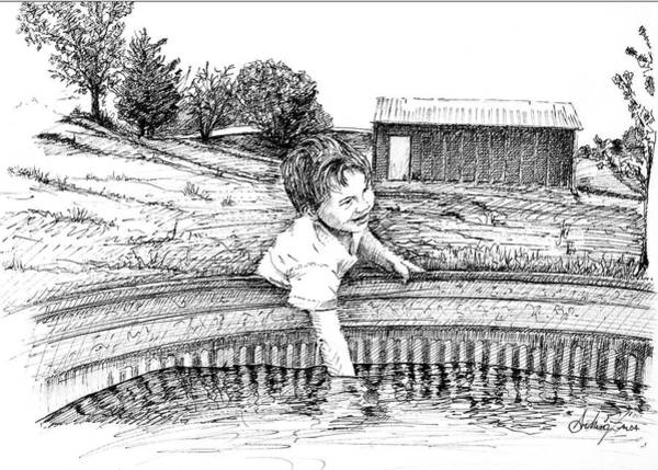 Drawing - Cool Water by Arthur Fix