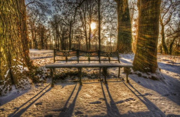 Park Bench Digital Art - Coolest Seats by Nathan Wright