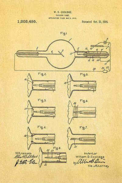 X-ray Photograph - Coolidge X-ray Tube Patent Art 1913 by Ian Monk