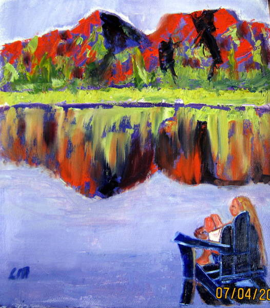 Adirondack Mountains Painting - Cooling Off by Lia  Marsman