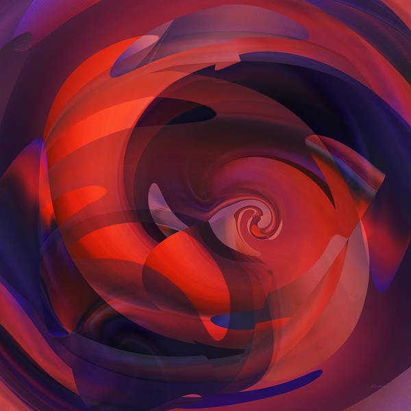 Digital Art - Cooling Spiral Abstract by rd Erickson