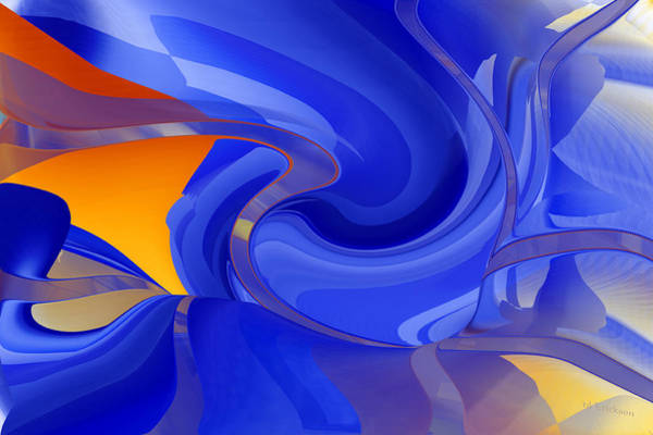 Digital Art - Cooling Wave - Abstract Art by rd Erickson
