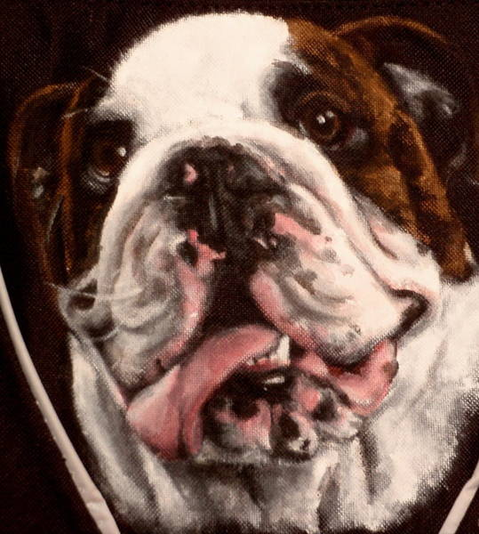 English Bulldog Painting - Cooper by Carol Russell