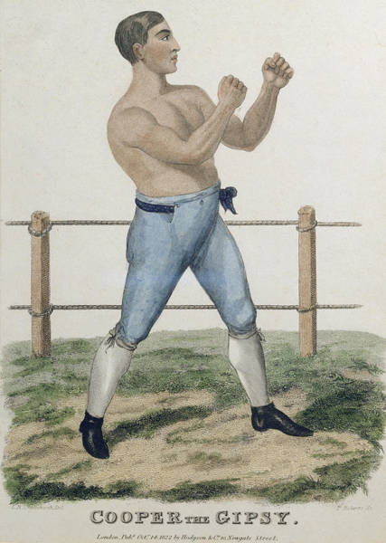 Boxing Drawing - Cooper The Gipsy, Engraved By P by Isaac Robert Cruikshank