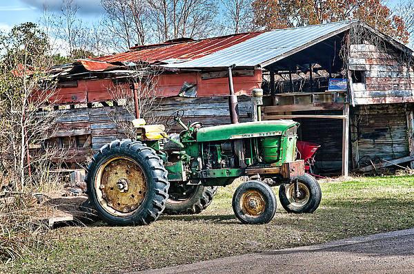 Photograph - Coosaw - John Deere Tractor by Scott Hansen