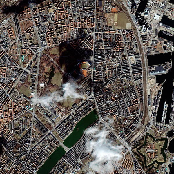City Centre Photograph - Copenhagen by Geoeye/science Photo Library