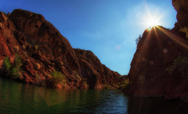 Copper Mountain Photograph - Copper Canyon With Lens Flare by Susangaryphotography