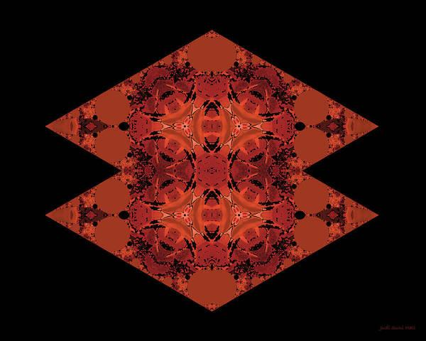 Digital Art - Copper Double Diamond Abstract by Judi Suni Hall