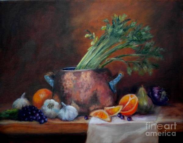 Painting - Copper Pot Still Life by Wendy Ray