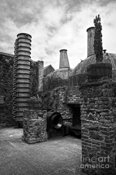 Photograph - Copper Pot Stills And Column Still At Lockes Distillery Bw by RicardMN Photography
