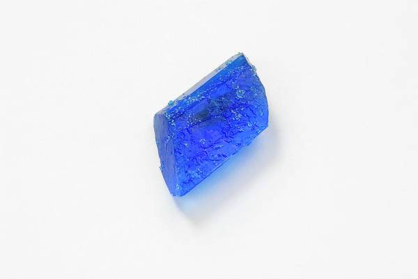 Wall Art - Photograph - Copper Sulphate Crystal by Trevor Clifford Photography