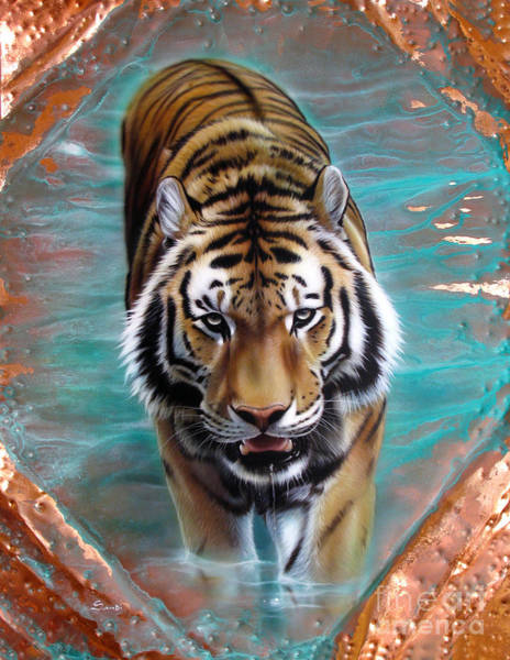 Painting - Copper Tiger 3 by Sandi Baker