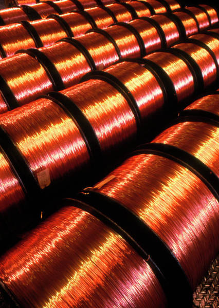 Manufacture Wall Art - Photograph - Copper Wire by Simon Lewis/science Photo Library