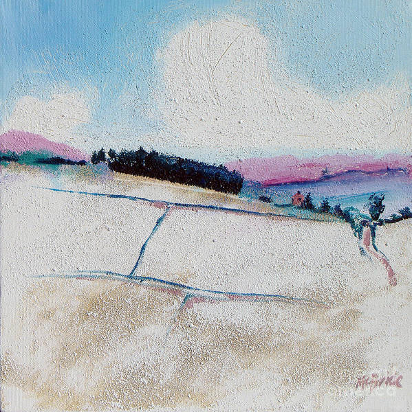 Scumble Wall Art - Painting - Copse In Snow by Neil McBride