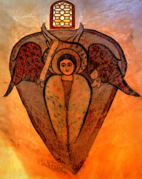 Photograph - Coptic Archangel by Nigel Fletcher-Jones
