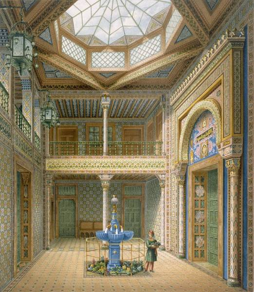 Villa Drawing - Copula Style Ceiling, Design by Karl Ludwig Wilhelm Zanth