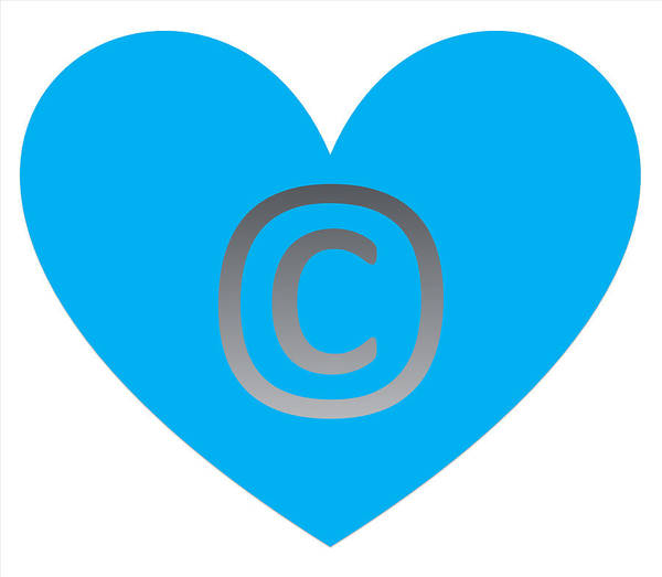 Digital Art - Copy Right Emblem Powder Blue by Catherine Lott