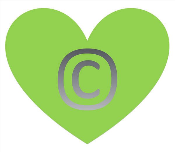 Digital Art - Copy Right Emblem by Catherine Lott