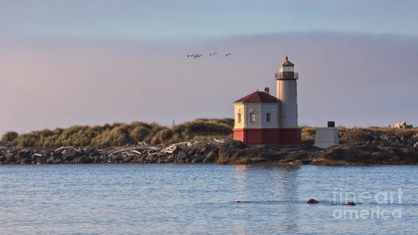 Photograph - Coquille River Lighthouse by Carrie Cole