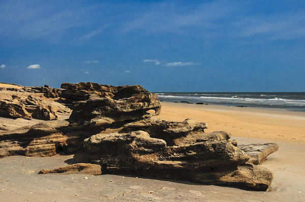 Photograph - Coquina Rock Formations by Penny Lisowski