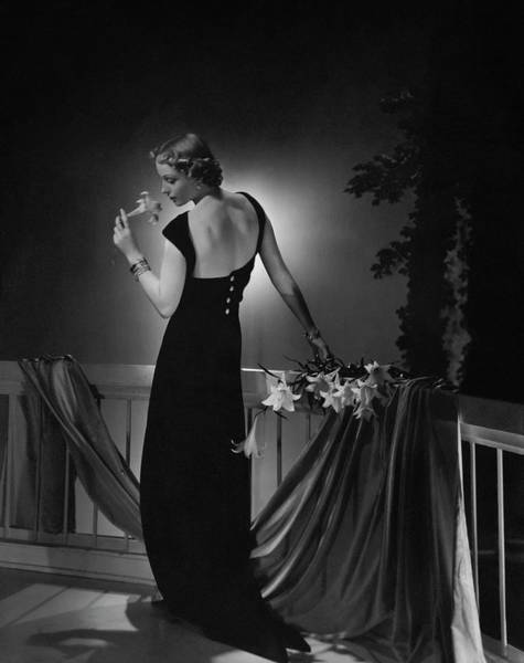 Evening Gown Photograph - Cora Hemmet Wearing A Vionnet Gown by Horst P. Horst