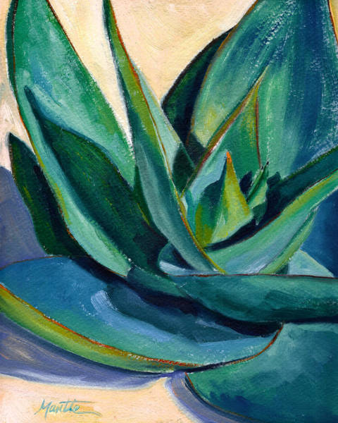 Agave Painting - Coral Aloe 2 by Athena Mantle
