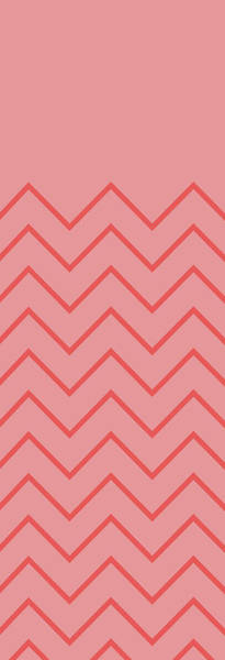 Tribal Digital Art - Coral Chevron by Pixels