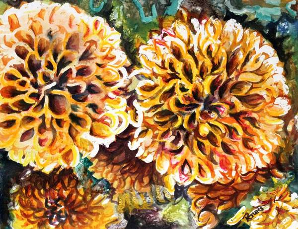 Painting - Coral Flowers by Richard Jules