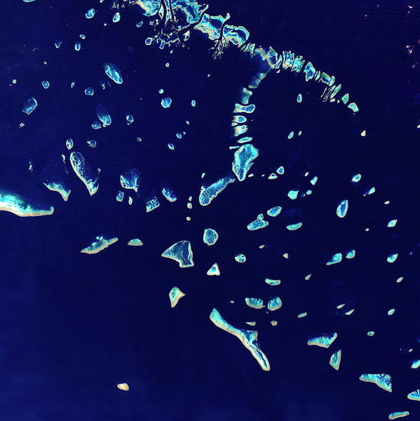 Wall Art - Photograph - Coral Islands by Planetobserver/science Photo Library