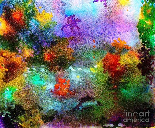 Wall Art - Painting - Coral Reef Impression 1 by Hazel Holland
