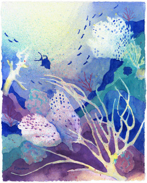 Painting - Coral Reef Dreams 4 by Pauline Walsh Jacobson