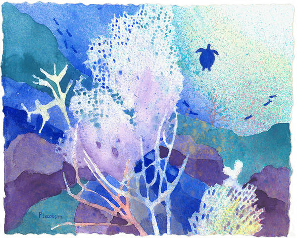Painting - Coral Reef Dreams 5 by Pauline Walsh Jacobson
