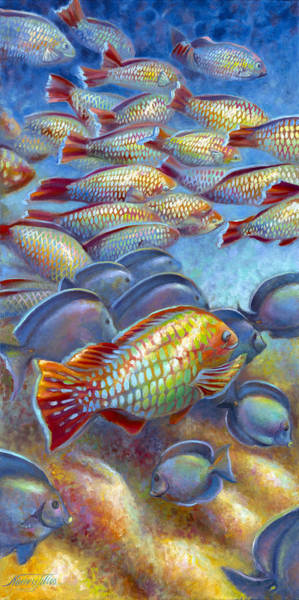 Wall Art - Painting - Coral Reef Life I by Nancy Tilles