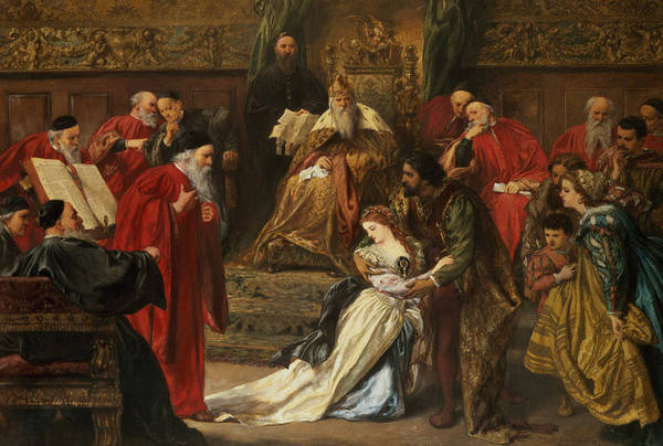 Shakespeare Wall Art - Drawing - Cordelia In The Court Of King Lear, 1873 by Sir John Gilbert