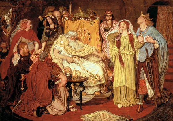Inheritance Wall Art - Painting - Cordelias Portion, 1867-75 by Ford Madox Brown