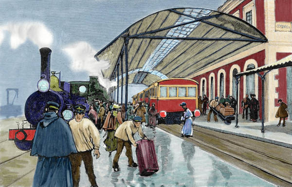 Arrival Photograph - Cordoba Station Arrival Of A Passenger by Prisma Archivo