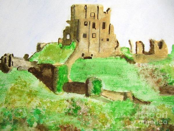 Corfe Painting - Corfe Castle by Denise Railey
