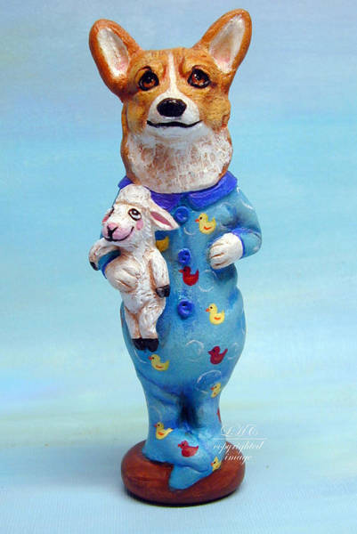 Wall Art - Sculpture - Corgi Cookie Please by Lyn Cook