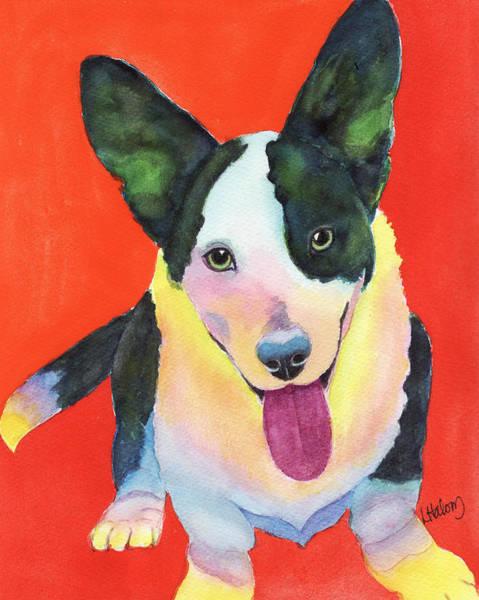 Painting - Corgi by Greg and Linda Halom