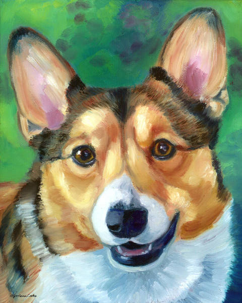 Wall Art - Painting - Corgi Smile by Lyn Cook