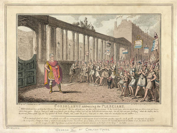 Wall Art - Drawing - 'coriolanus Addressing The  Plebeians' by Mary Evans Picture Library