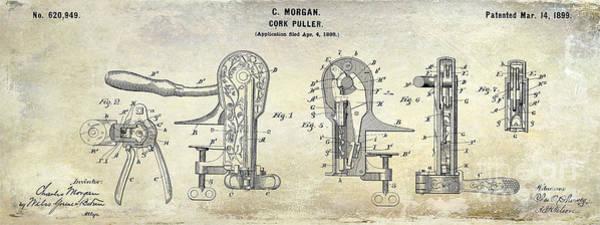 Wall Art - Photograph - Cork Puller Patent 1899 by Jon Neidert