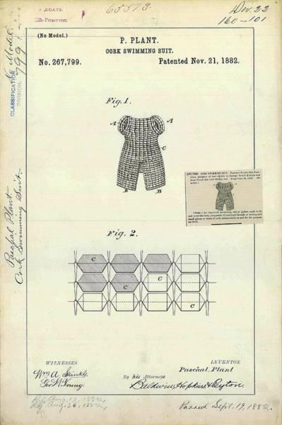 Cork Swimming Suit Patent Art Print