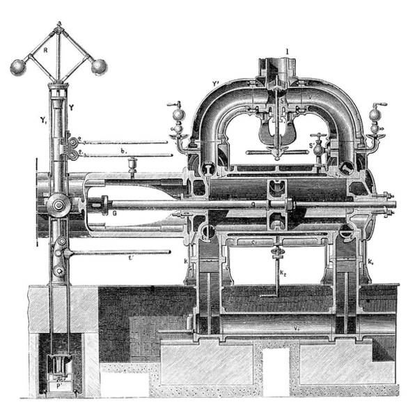 Emmanuel Photograph - Corliss Steam Engine by Science Photo Library