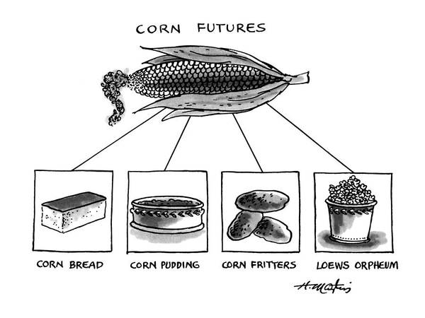 4 Drawing - Corn Furures by Henry Martin