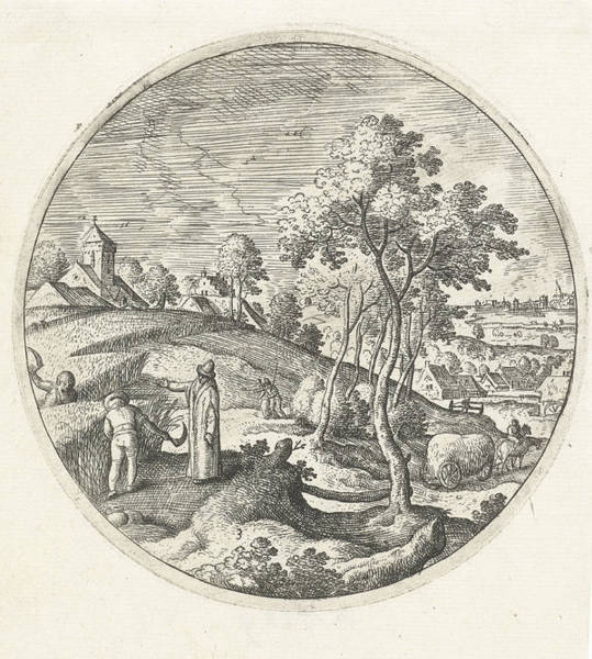 Wall Art - Drawing - Corn Harvest, Hans Bol by Hans Bol